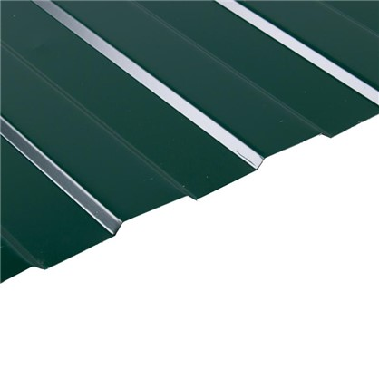 Профнастил С8 1.18x2 м с полиэстеровым покрытием 035 мм цвет зеленый