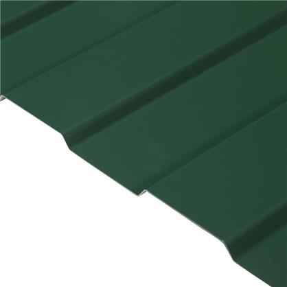 Профнастил С8 с полиэстеровым покрытием 1.2х2 м 0.45 мм цвет зелёный