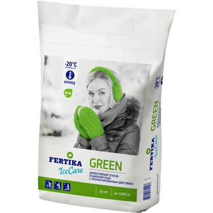 Противогололёдное средство Фертика Ice Care Green 20 кг