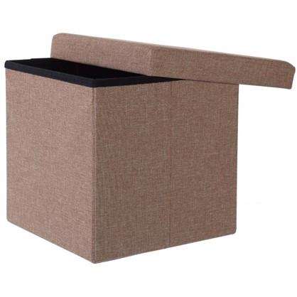 Купить Пуф складной с отделением для хранения 38x38x38 см цвет бежевый дешевле