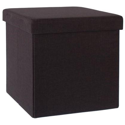 Купить Пуф складной с отделением для хранения 38x38x38 см цвет коричневый дешевле