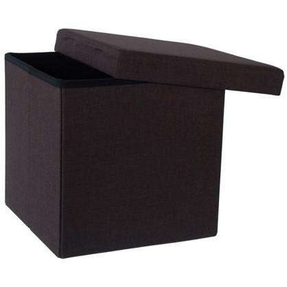 Пуф складной с отделением для хранения 38x38x38 см цвет коричневый