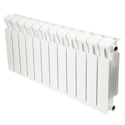 Биметаллический радиатор Rifar Monolit 12 секций боковое подключение 350 мм