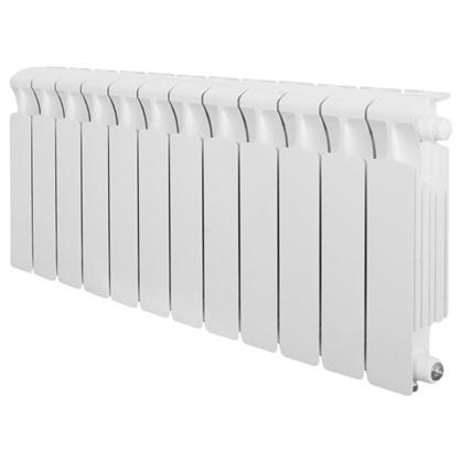 Биметаллический радиатор Rifar Monolit 350 12 секций нижнее правое подключение