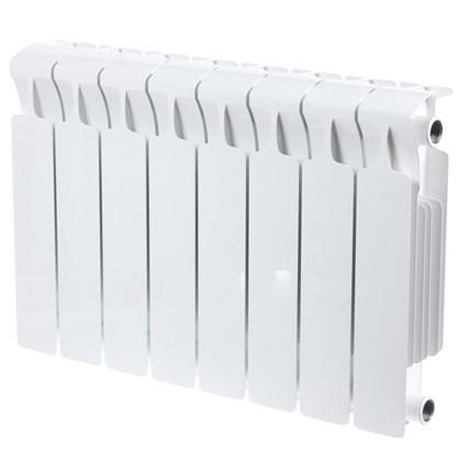 Биметаллический радиатор Rifar Monolit 350 8 секций нижнее правое подключение