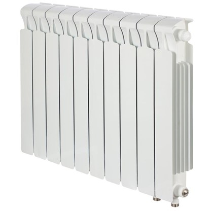 Биметаллический радиатор Rifar Monolit 500 10 секций нижнее правое подключение