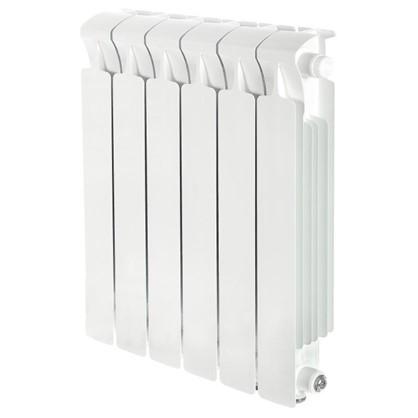 Биметаллический радиатор Rifar Monolit 500 6 секций нижнее правое подключение
