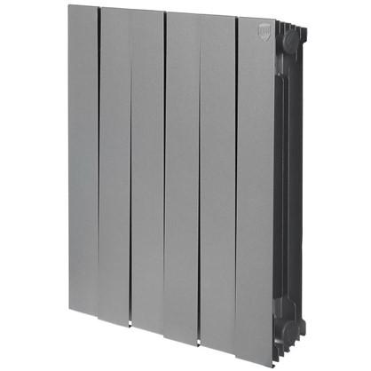 Купить Биметаллический радиатор Royal Thermo Pianoforte 500/6 Silver Satin дешевле
