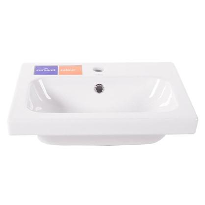 Купить Раковина для ванной Colour керамика 50 см цвет белый дешевле