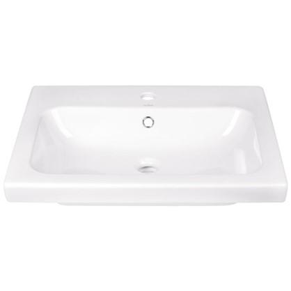 Купить Раковина для ванной Colour керамика 60 см цвет белый дешевле