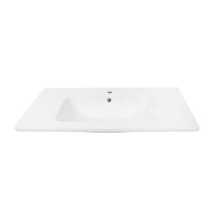 Купить Раковина для тумбы Эйфория 100 см эмалированная керамика цвет белый дешевле