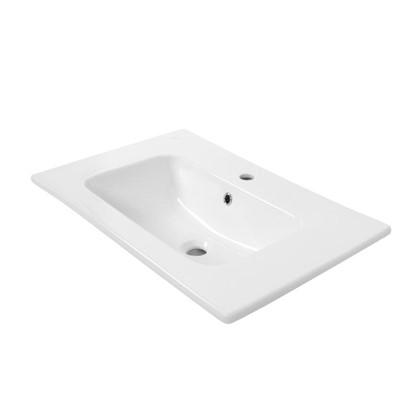 Купить Раковина для ванной Эйфория 80 см эмалированная керамика цвет белый дешевле