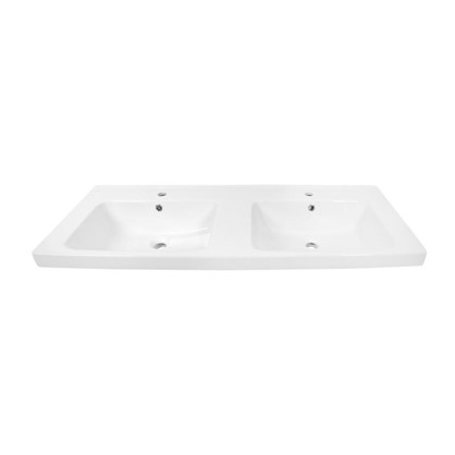 Раковина для ванной Гармония 125 см эмалированная керамика цвет белый