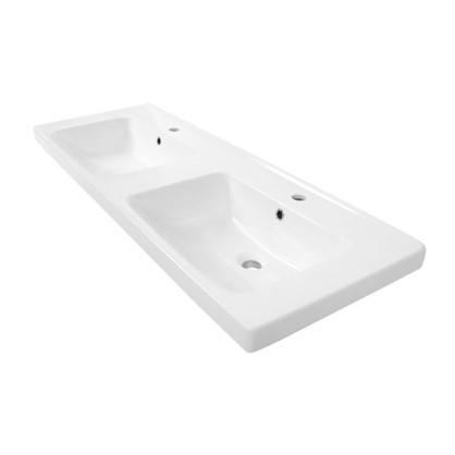 Купить Раковина для ванной Гармония 125 см эмалированная керамика цвет белый дешевле