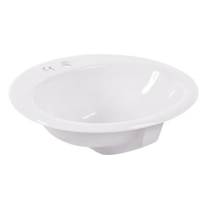 Купить Раковина для ванной круглая Бианка керамика 44 см цвет белый дешевле