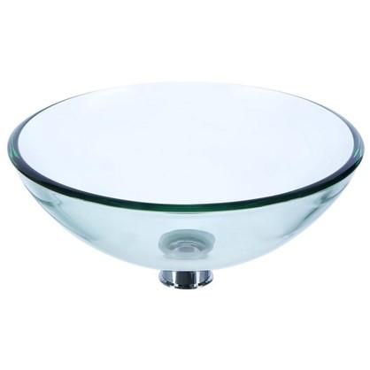 Купить Раковина для ванной круглая Луна 395x12 см цвет прозрачный дешевле
