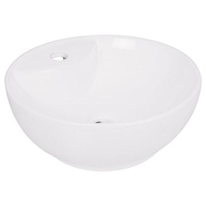 Купить Раковина для ванной круглая Нептун керамика 40 см цвет белый дешевле