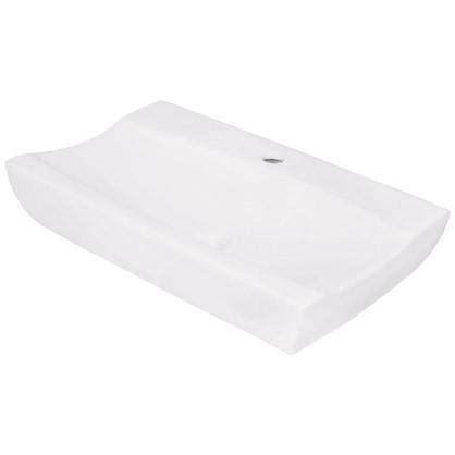 Раковина для ванной прямоугольная Илена керамика 38.9 см цвет белый