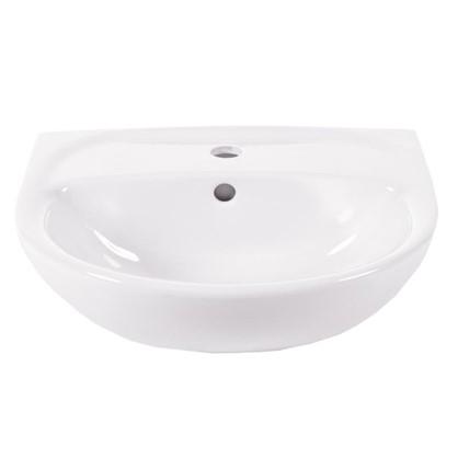 Купить Раковина для ванной Универсал Катунь керамика 50 см цвет белый дешевле