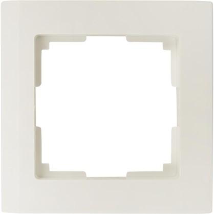 Рамка 1 пост цвет белый