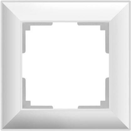 Рамка 1 пост цвет белое золото
