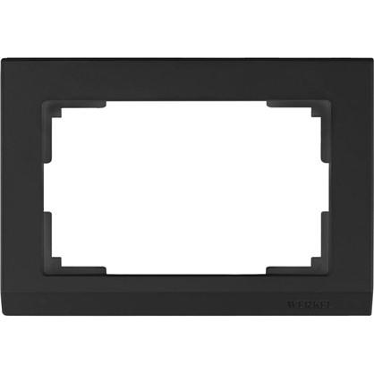 Купить Рамка 2 поста цвет чёрный дешевле
