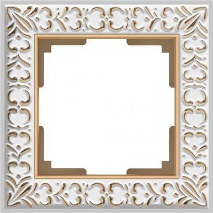 Рамка Antik 1 пост цвет белое золото