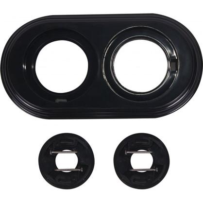 Рамка для розеток и выключателей 2 поста цвет чёрный
