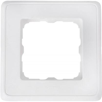Рамка для розеток и выключателей Cariva 1 пост цвет белый