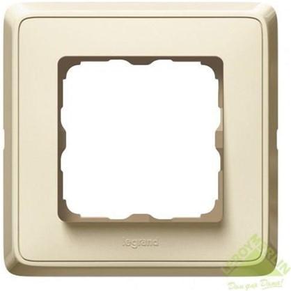 Рамка для розеток и выключателей Cariva 1 пост цвет слоновая кость