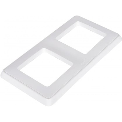 Купить Рамка для розеток и выключателей Cariva 2 поста цвет белый дешевле