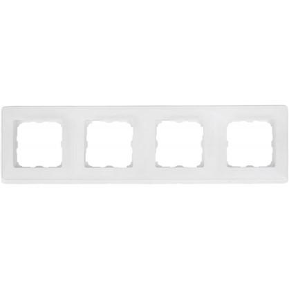 Рамка для розеток и выключателей Cariva 4 поста цвет белый