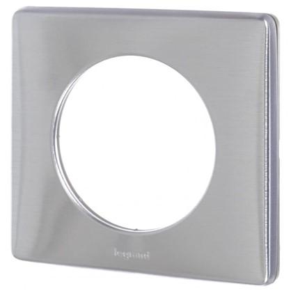 Купить Рамка для розеток и выключателей Celiane 1 пост цвет алюминий дешевле