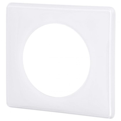 Рамка для розеток и выключателей Celiane 2 1 пост цвет белый глянец