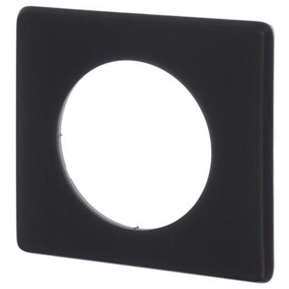 Купить Рамка для розеток и выключателей Celiane 2 1 поста цвет перкаль чёрный дешевле
