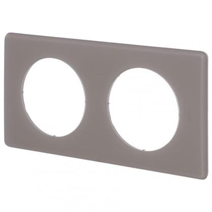 Рамка для розеток и выключателей Celiane 2 2 поста цвет перкаль грэй