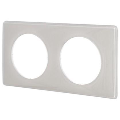 Рамка для розеток и выключателей Celiane 2 2 поста цвет слоновая кость глянец