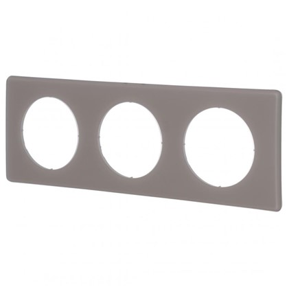 Купить Рамка для розеток и выключателей Celiane 2 3 поста цвет перкаль грэй дешевле