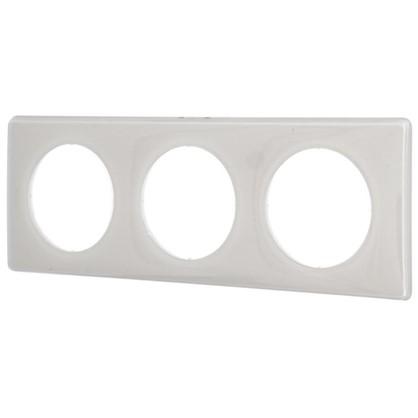 Рамка для розеток и выключателей Celiane 2 3 поста цвет слоновая кость глянец