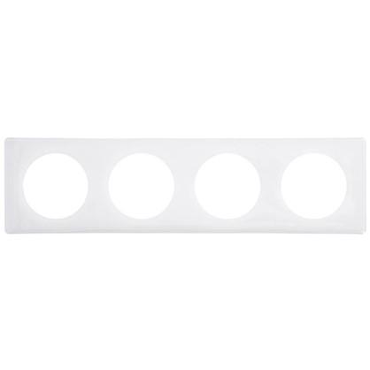 Рамка для розеток и выключателей Celiane 2 4 поста цвет белый глянец