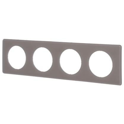 Рамка для розеток и выключателей Celiane 2 4 поста цвет перкаль грэй