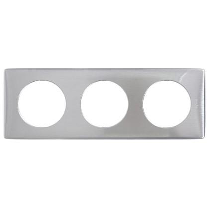 Рамка для розеток и выключателей Celiane 3 поста цвет алюминий