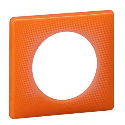 Купить Рамка для розеток и выключателей Celiane2 Муар 1 пост 2 модуля цвет оранжевый дешевле
