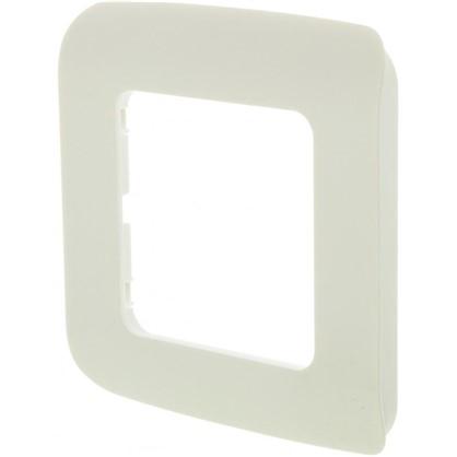 Рамка для розеток и выключателей Cosy 1 пост цвет белый