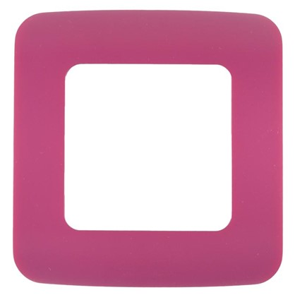 Рамка для розеток и выключателей Cosy 1 пост цвет фуксия