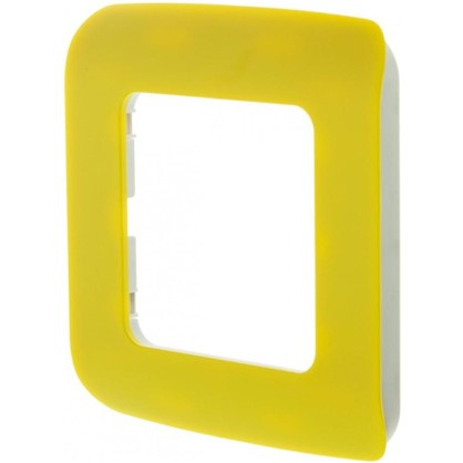 Рамка для розеток и выключателей Cosy 1 пост цвет лимон