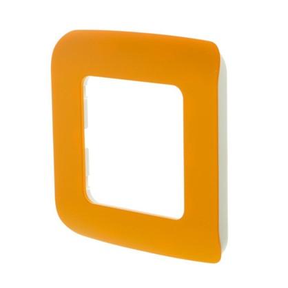 Рамка для розеток и выключателей Cosy 1 пост цвет оранжевый