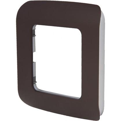 Рамка для розеток и выключателей Cosy 1 пост цвет шоколад