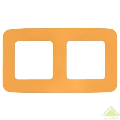 Рамка для розеток и выключателей Cosy 2 поста цвет оранжевый