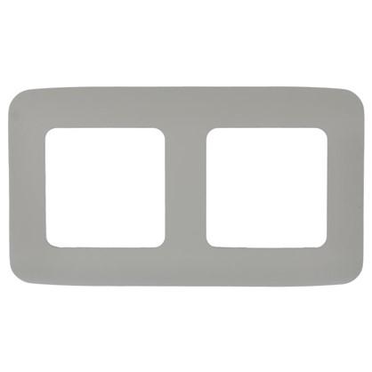 Рамка для розеток и выключателей Cosy 2 поста цвет серый